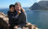 Rahil and Dad near Chapman's Peak