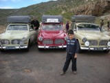 Rally cars at the Cape of Good Hope
