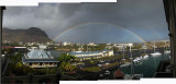 Double Rainbow in Port Louis waterfront Mauritius (7 Sept 2012)