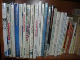 Here's what some of them look like on the shelf.