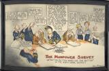 An Eddy WWII poster:  The Manpower Survey (watercolor, approx. 14 x 20)