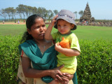 With Anna at the Mammallapuram Shore Temple