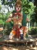 With Hanuman in Pondicherry Botanical Garden