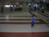 Spinning around in the Chennai Airport