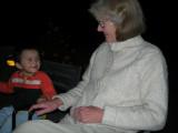 With Grandma at the bumfire