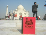 Forty Cartoon Books of Interest visiting the Taj Mahal in December of 2007