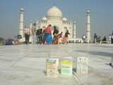Three Small Books visit the Taj Mahal in December of 2007.