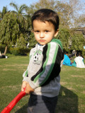 With first cricket bat