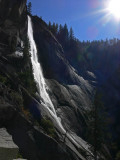 Nevada Fall in afternoon sun