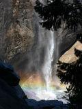 Upper Yosemite Falls pool and rainbow