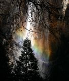 Bridalveil Falls late afternoon rainbow