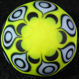 Seven big yella' X's surround this marble, done w/ Brad's masking technique. The marble is acid etched to complete the look.