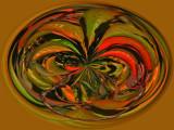 Native art mask orb.