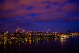 Purple clouds over Stockholm