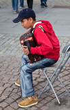 Young street musican