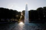 The sunlit fountain
