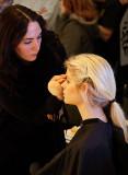 Preparing model at the Stockholm Photo Fair