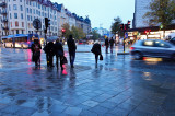 Rainy evening at Fridhemsplan