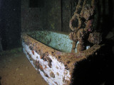 The captains tub on the wreck of the Umbria