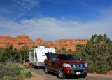Our camp site at Arches...how cool is that