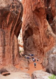 Fiery Furnace tour.  It was actually shady and cool in the shadow of the fins.