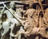 Marble sarcophugus