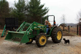 Jerry on his John Deere