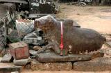 kneeling Nandin, the mount of Shiva