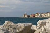 Piran - view towards Punta lighthouse