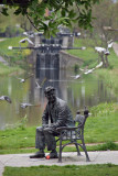 Brendan Behan statue, Royal Canal