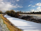 Iced-over canal near Barberstown