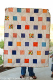 Back of zigzag quilt