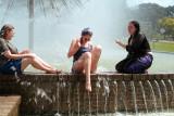 Allen Parkway fountain 3 girls 3