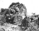 Dead jap sniper on Okinawa