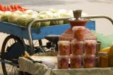 Packed fruits at a roadside stall