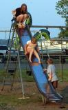 Sliding down a Slide