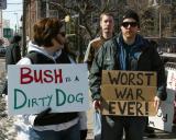 Bush is a dirty dog