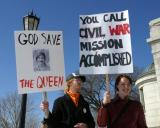 God Save the Queen -- Civil war, mission accomplished?