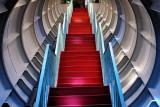 stairs between the Atomium spheres