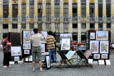 Art for sale at Grand Place