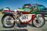 Racebikes seen in the paddock