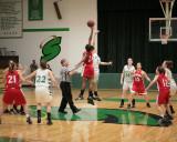 Seton Catholic Central High School's Girls Basketball Team versus Chenango Valley High School in the Section IV Tournament