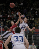Chenango Valley High School's Boys Basketball Team versus Lansing High School in the Section Four Tournament