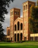 UCLA Royce Hall after winter rain storm