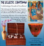 Brochure ad for the Eclectic Craftsman, Kona, Hawaii