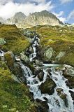 Cascading stream at the Furka Pass