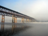 Newburgh-Beacon Bridge in Fog