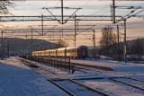 Winter-afternoon-train-parked, Halden Railway station