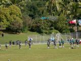 The Cook Islanders take the field to practice