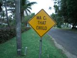 Wac that child (along with _low down and _c_ool ahead)